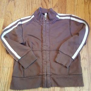 Land's End Vintage Look Athletic Zip-up Jacket